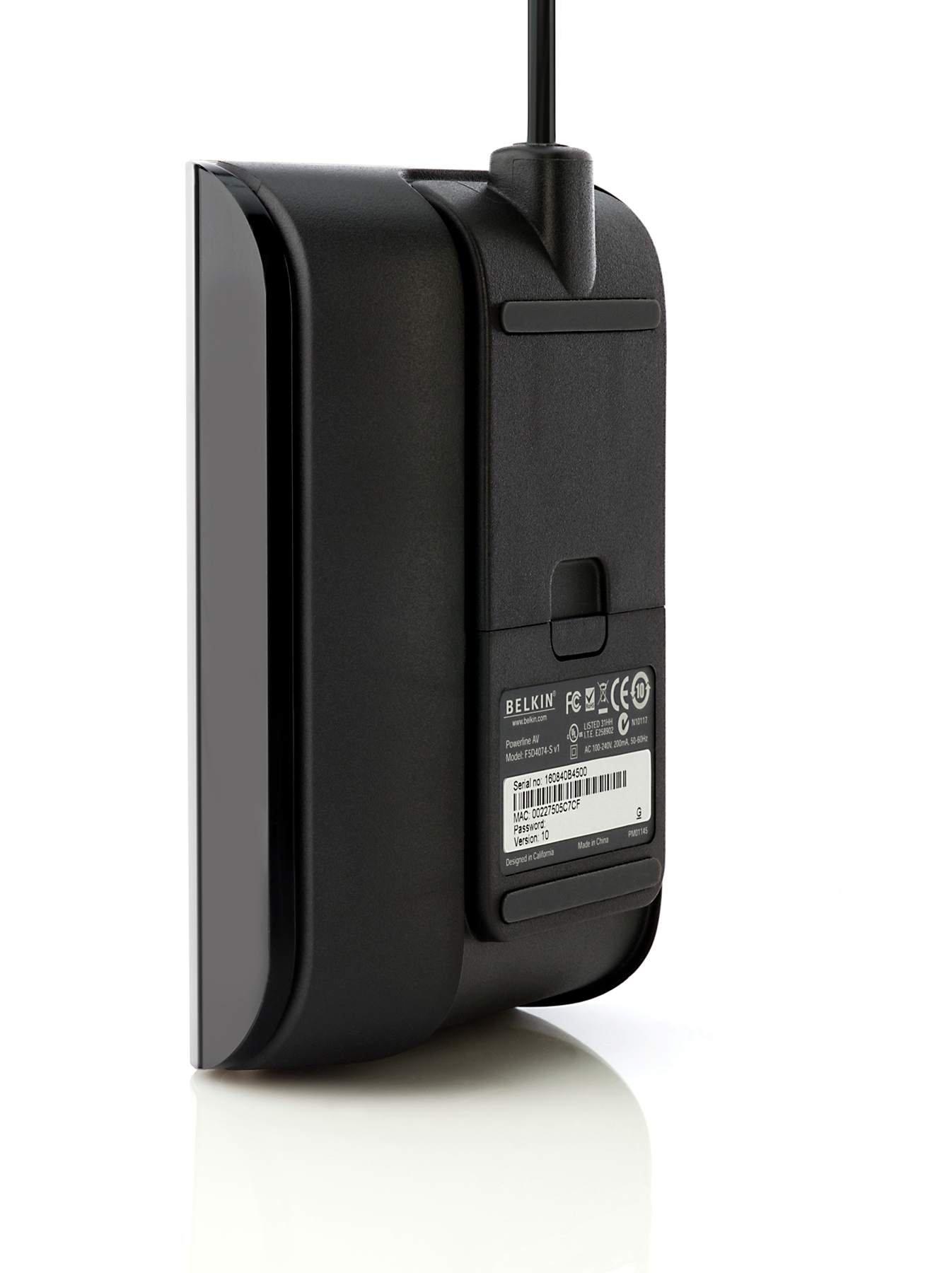 Belkin 200 Mbps Powerline AV Adapter (Black)