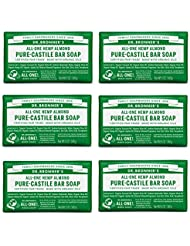 Dr. Bronner's Fair Trade & Organic Castile Bar Soap - (Almond, 6 Bars)