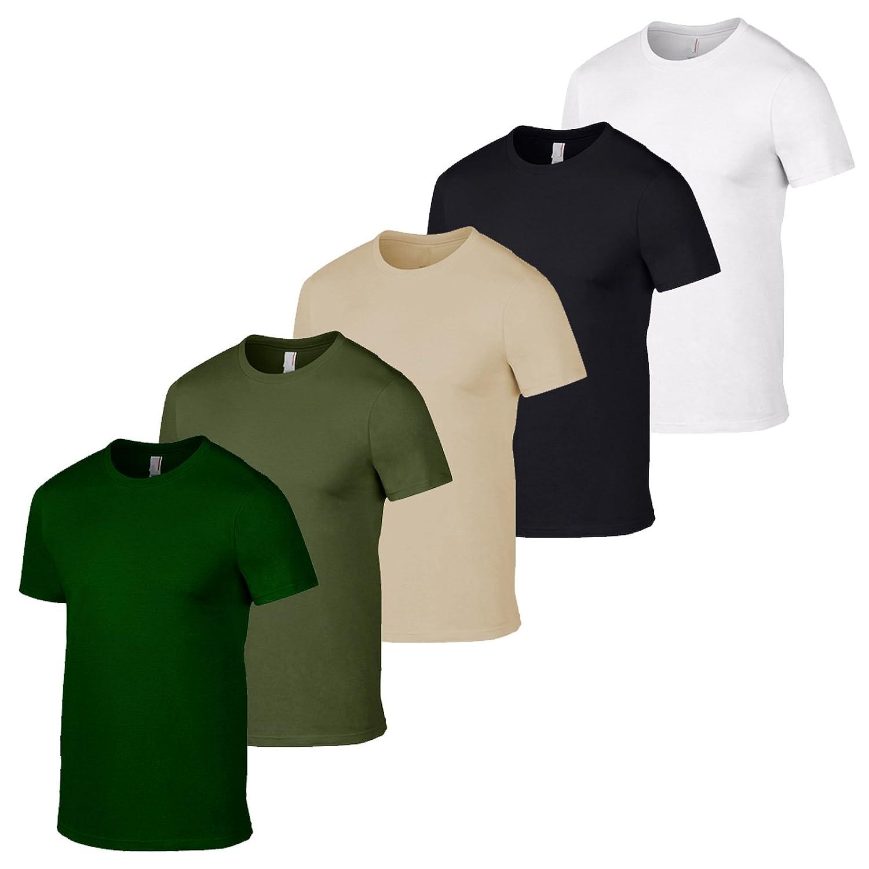 Gildan 5 Unidades del ejército británico T Shirt Camiseta de Colores Militares para Hombre al por Mayor Camuflaje Pesca: Amazon.es: Ropa y accesorios