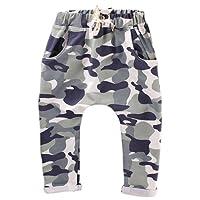 Minuya Baby Boys Camouflage Elastic Waist Cotton Harem Pants Jogging Pants Casual Pants 2-8 Years