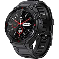 ANSUNG Smartwatch heren fitness tracker militair design horloge waterdicht met Bluetooth oproep zuurstofverzadiging…