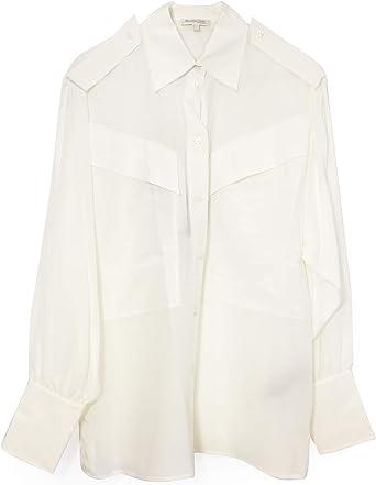 MASSIMO DUTTI - Camisas - Manga Larga - para Mujer Marfil Blanco Crema 40: Amazon.es: Ropa y accesorios