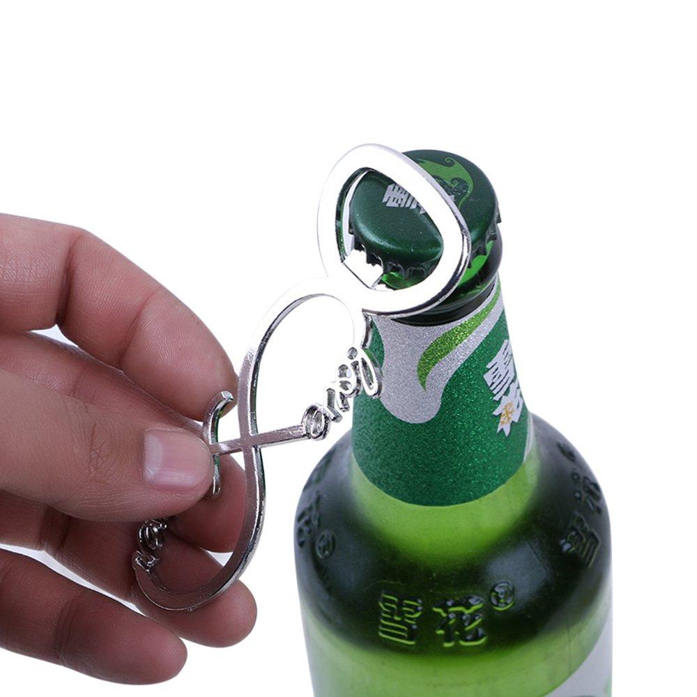 Silver Love Forever Wine Bottle Opener for Wedding Party Favor Bridal Shower by dngcity (Image #4)