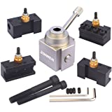 Jinwen 120034 Tooling Package Mini Lathe Quick Change Tool Post & Holders Multifid Tool Holder (Aluminum)