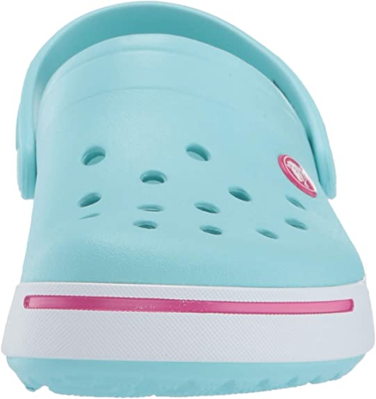 J3 US Little Kid Cantaloupe Crocs Kids Crocband Platform Clog Comfortable Slip On Shoes Platform Shoes