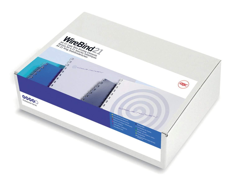 Pack of 100 A4 IB165023 55 Sheet Capacity GBC MultiBind Binding Wires Black 6 mm