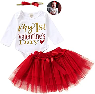 RED AND WHITE HEARTS SKIRT /& HEADWRAP HEADBAND SET BABY GIRLS NEW
