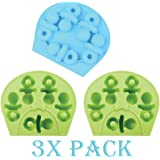 Pack of 3 X Pacifier silicone mold Baby Shower Ice Cube Chocolate Soap Tray Party Maker Baking (Ships From USA)