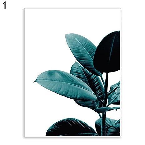 Uniqueaur Kunstdruck Grünpflanze, dekorativ, Leinwand, Poster / Bild ...