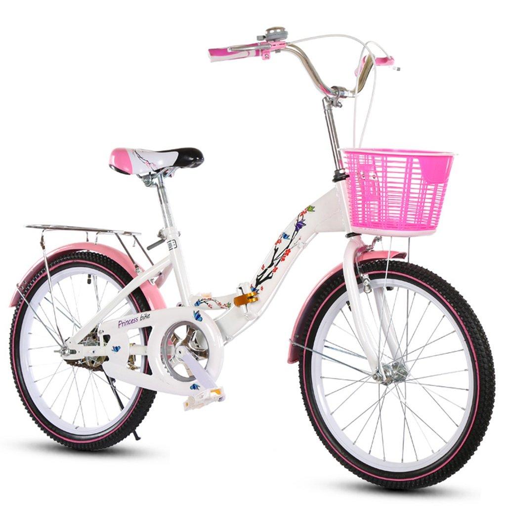 Bicicletas infantiles plegables, aptas para niños y niñas, estudiantes, ciudad de Alley, acero de alto carbono, tecnología antideslizante de 8 años de edad y más de 130 – 145 cm, color B, tamaño 130 cm