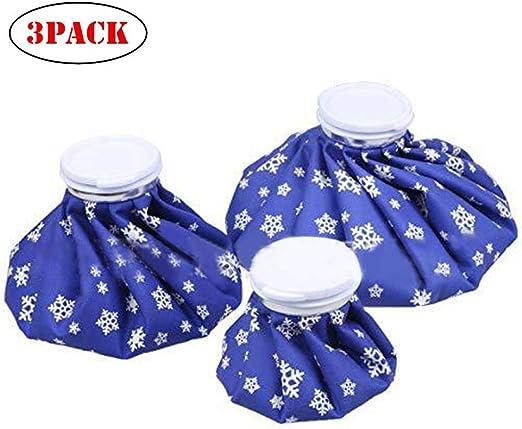 Hot Cold Ice Pack – Bolsa de hielo reutilizable de 3 piezas con ...