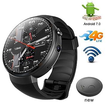 SMARTGOOD Reloj Inteligente Bluetooth, Reloj Inteligente 4G LTE/Android 7.1 con Herramienta De Traducción Sim Camera Fitness Tracker Smartwatch Phone para ...
