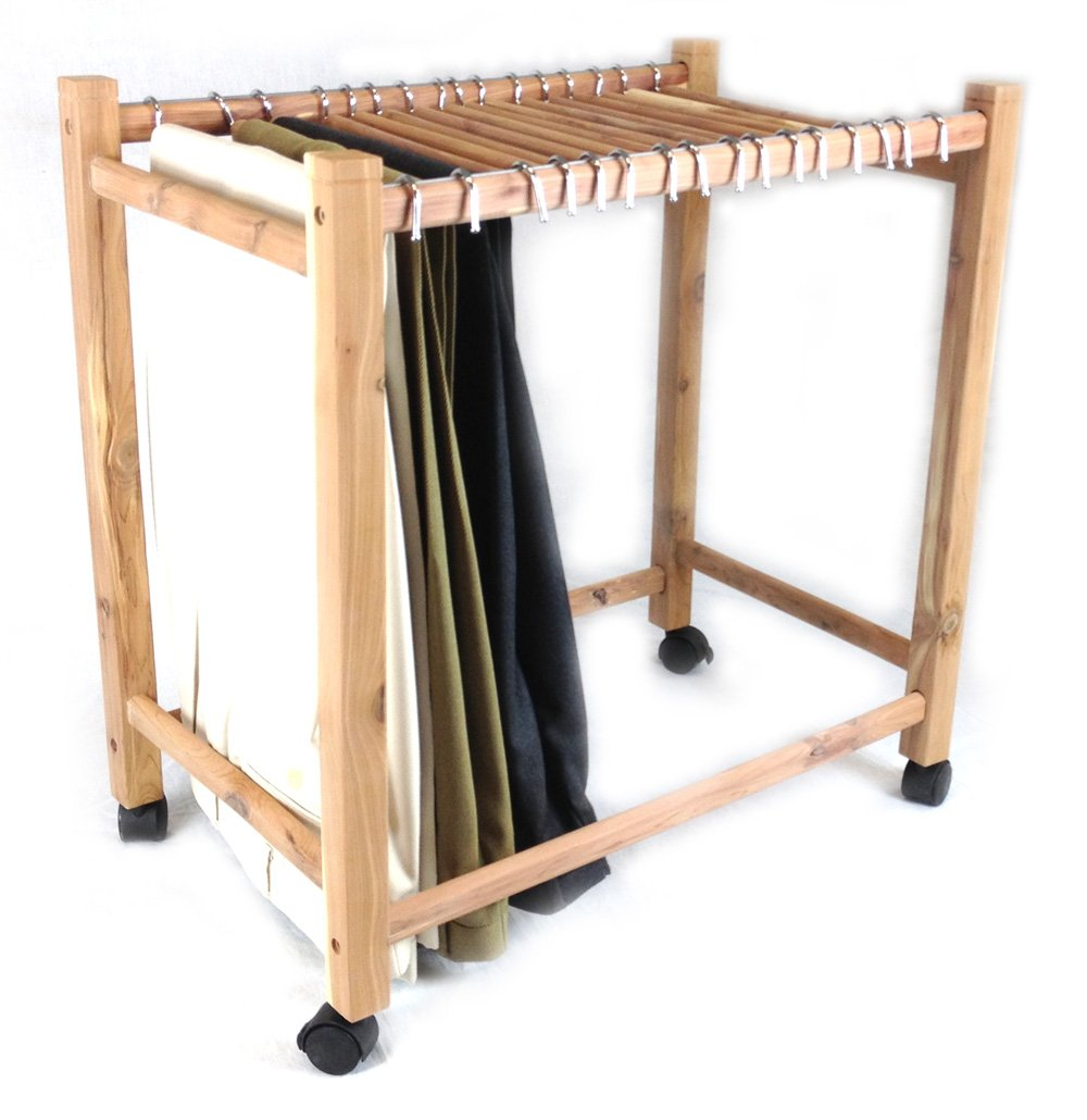 Aromatic Red Cedar Pant Trolley/Trouser Rack (16 Hangup Rods) M&N International Group Inc. CE7401