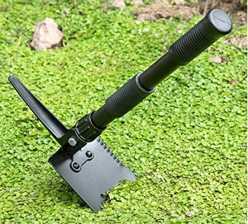 ガーデンキャンプ小さな折りたたみシャベルマンガン鋼スペードポータブルシャベルを使用実用的な鍬ピックすることができ lzpff