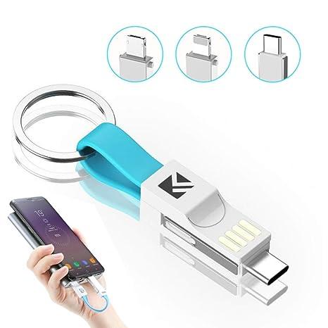 Amazon.com: PCEPEIVK Llavero Cable de Carga Magnético 3 en 1 ...