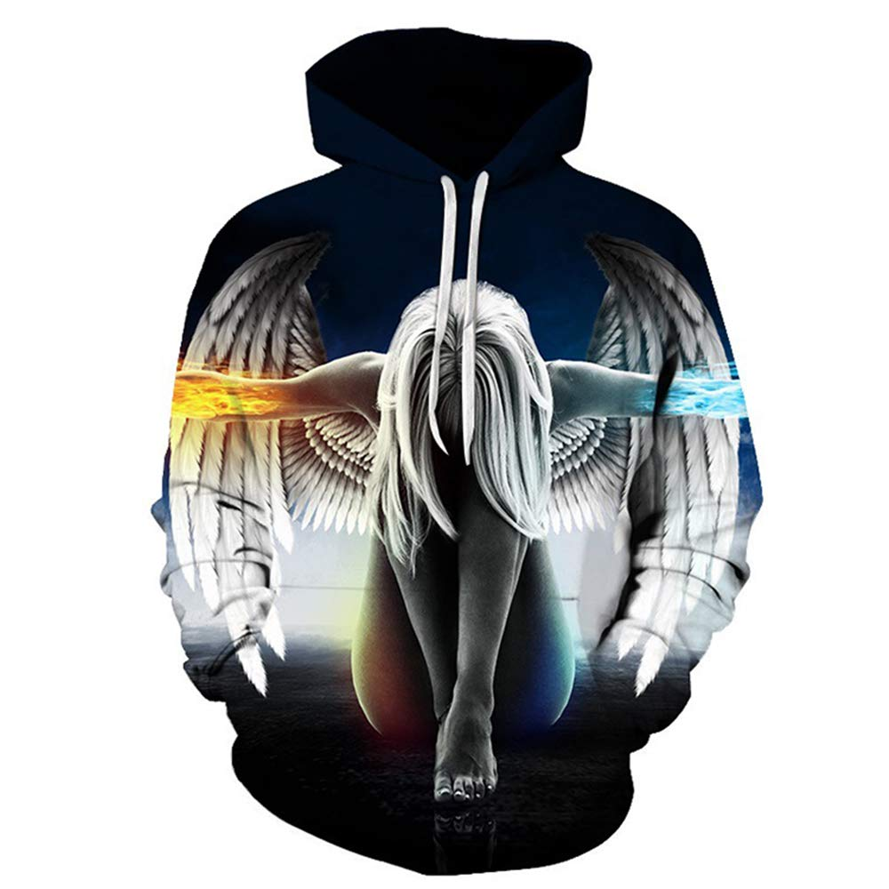 30dea7309101 Amazon.com  Hycsen 3D Hoodies Lion 3D Printed Sweatshirt Snow Lion Hoodies  Sweatshirt  Clothing