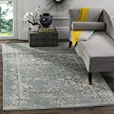 Safavieh Adirondack Collection ADR109S Slate and Ivory Oriental Vintage Distressed Area Rug (10' x 14')