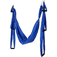 Afittel0 Yoga hangmat voor yoga, anti-zwaartekracht, pilates, flying swing, yoga-hangmat met lus en opbergtas van stof…