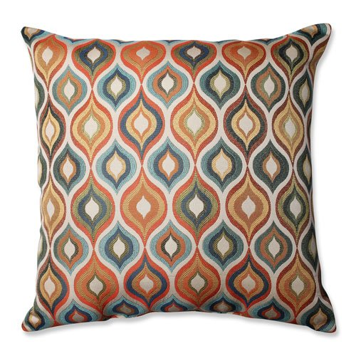 Pillow Perfect Flicker Jewel Floor Pillow, 24.5-Inch