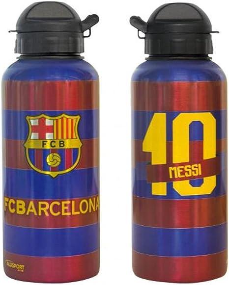 FC Barcelona de Fútbol regalo botella aluminio Messi - una gran Idea de regalo Navidad/cumpleaños para hombres y niños: Amazon.es: Deportes y aire libre