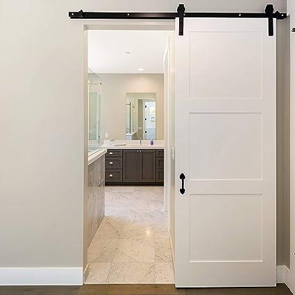 homgrace – Herraje para puerta corredera de 6,6 ft colgantes Carril Sistema de puerta