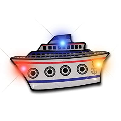 blinkee Cruise Ship Flashing Body Light Lapel Pins: Toys & Games