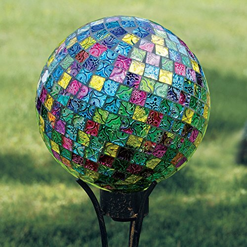 (Carson Home Accents 10 in. Mosaic Jeweled Hues - Gazing Ball)