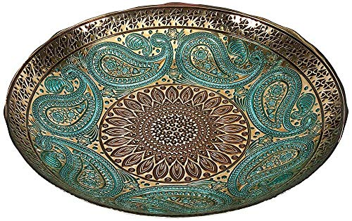 - IMAX Paisley Glass Bowl - Decorative Bowl with Elegant Design, Food Safe, Graceful Motif. Decorative Accessories