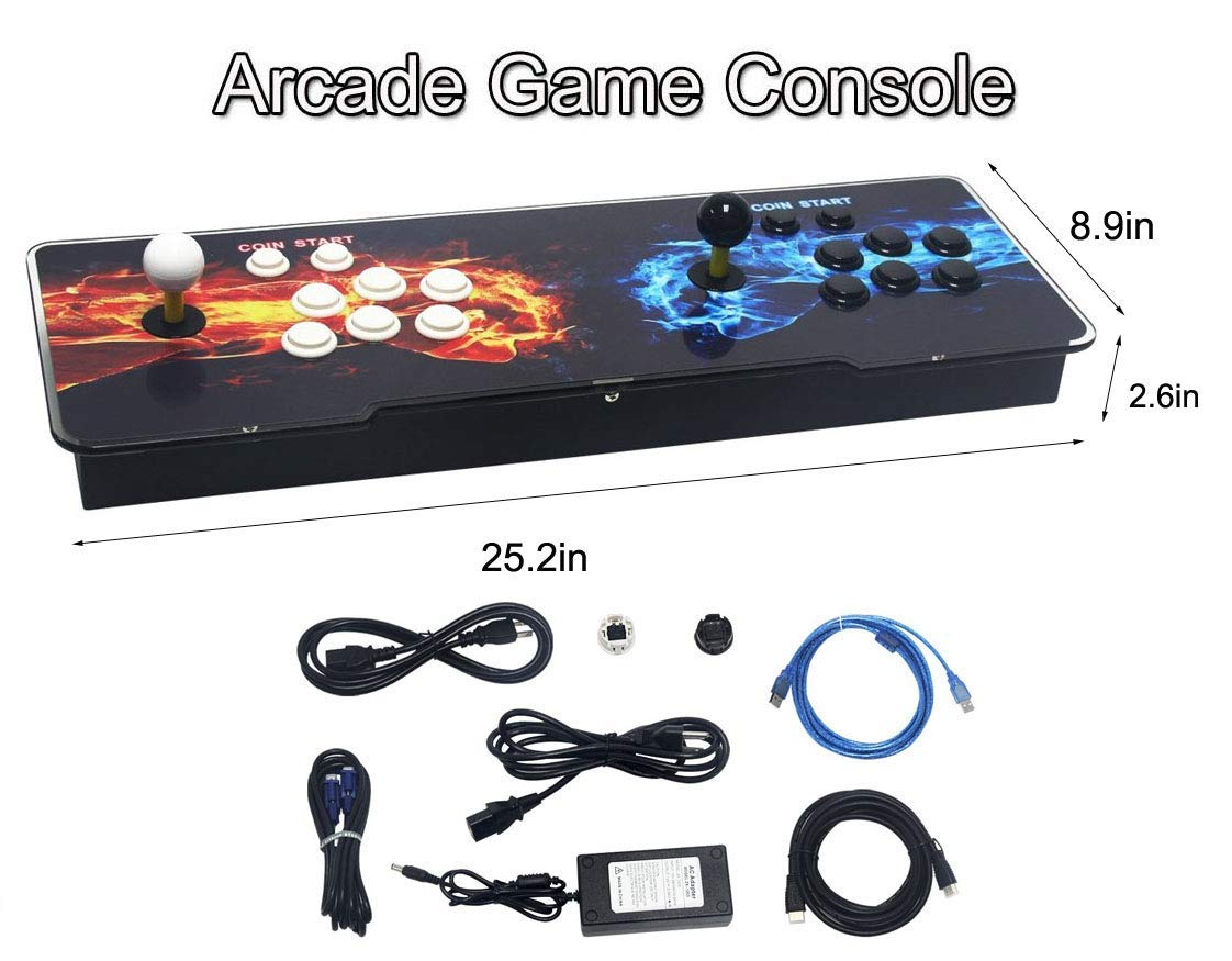SeeKool Pandora 11 Arcade Video Game Console, 2255 in 1 Retro Video Games Colorful LED Double Stick Arcade Console, HDMI VGA USB Newest System Arcade Machine, Built-in Speaker by SeeKool (Image #8)
