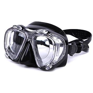 c5c7be86055cea Masque de plongée de prescription, grand angle avec 4 objectifs anti-buée  protection UV