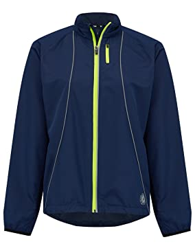 Time To Run Mujers Chaqueta Cortavientos de Running Zephyr Marineblau 40
