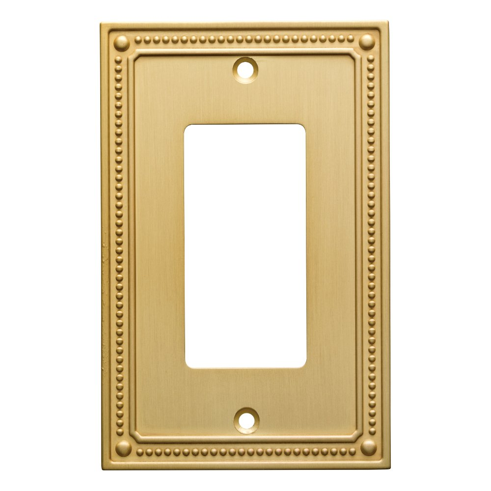 Franklin Brass W35060-BB-C Classic Beaded Single Decorator Wall Plate/Switch Plate/Cover, Brushed Brass