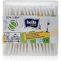 Bella Katoenen wattenstaafjes in praktische voorraaddoos, per stuk verpakt (1 x 200 stuks) veelzijdig bruikbaar
