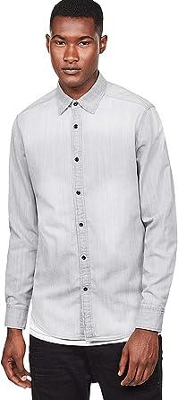 G-STAR RAW Landoh Clean Shirt L/S Camisa Vaquera para Hombre: Amazon.es: Ropa y accesorios
