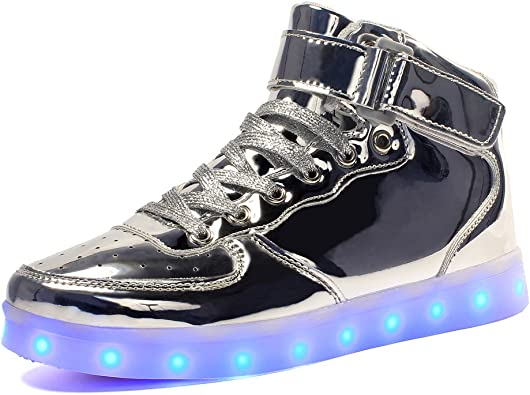 Led Children Boys USB Light Up Sneakers Baby Luminous Shoes Trainers Kids Gift