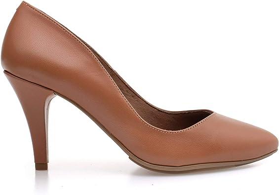 Urban Glam – Stiletto con tacón de Aguja Cuero: Amazon.es: Zapatos ...