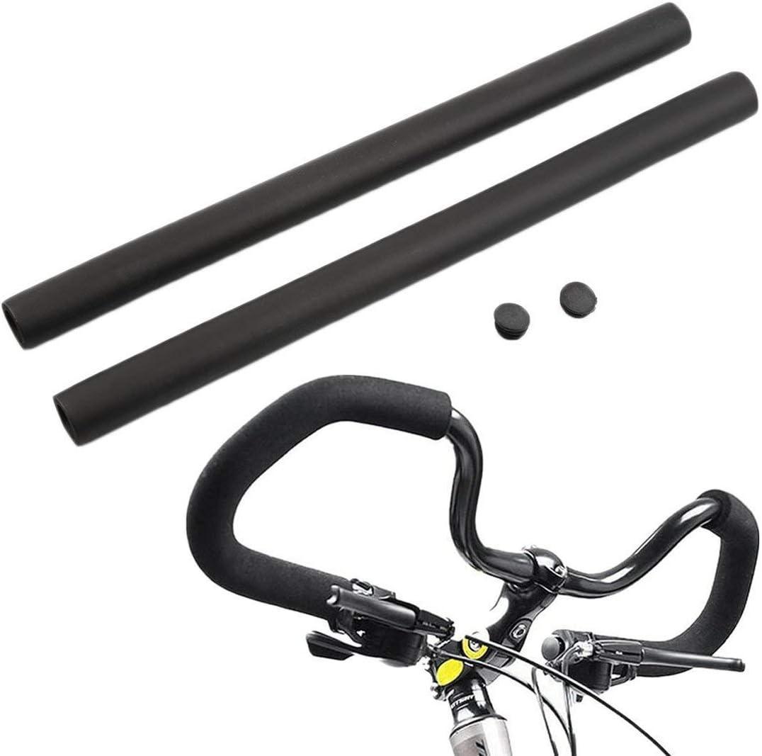 Bicycle Racing Bike Long Handle Bar Grip Cover No-Slip Grap Foam Sponge Black