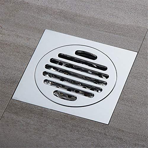Kuingbhn Bodenablauf Antike Messing Messing verchromt Deodorant und insektenfest WC Bodenablauf 100x100x40mm für Badezimmer Dusche Zimmer Toilette Wäscherei Ga (Color : Metallic, Size : 100x100x40mm)