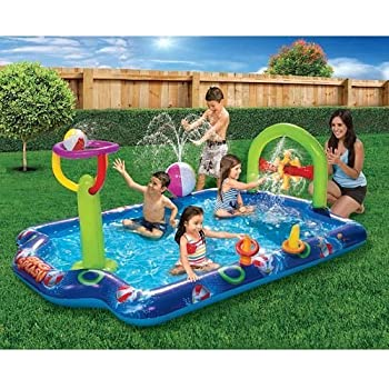 Kids Inflatable Pool Big Kiddie Blow Up Above Ground Swimming Pool Is Great For