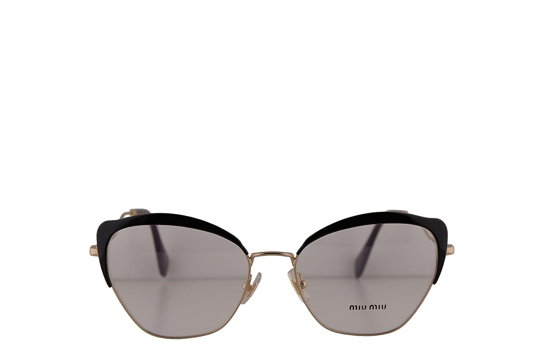 18fd01108bfebd Amazon.com  Miu Miu MU54PV Eyeglasses 54-17-145 Black w Demo Clear Lens  1AB1O1 VMU 54P VMU54P MU 54PV  Clothing