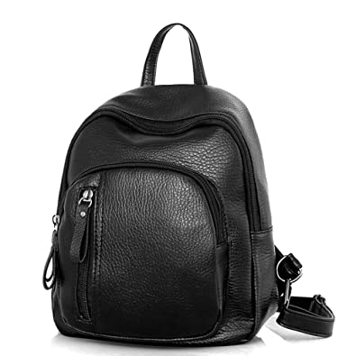 2018 Women Backpack PU Leather Female Casual Students School Bags For  Teenagers Girls Pretty Small Black 7910f6e77a889