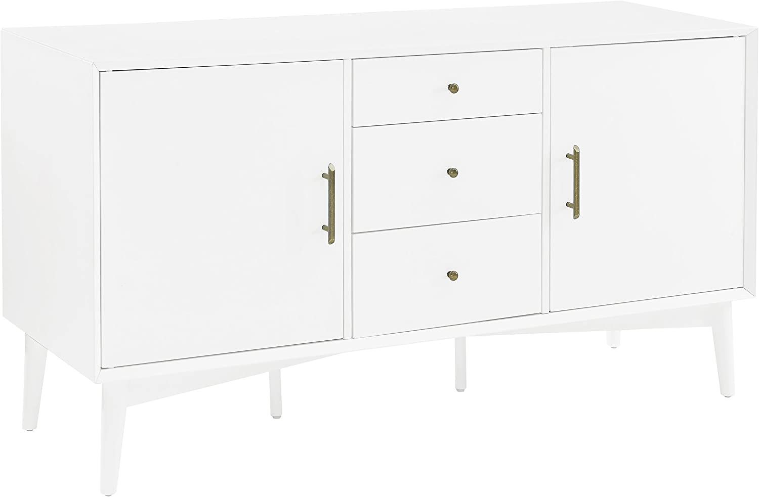 Crosley Furniture Landon Buffet and Large Console, White