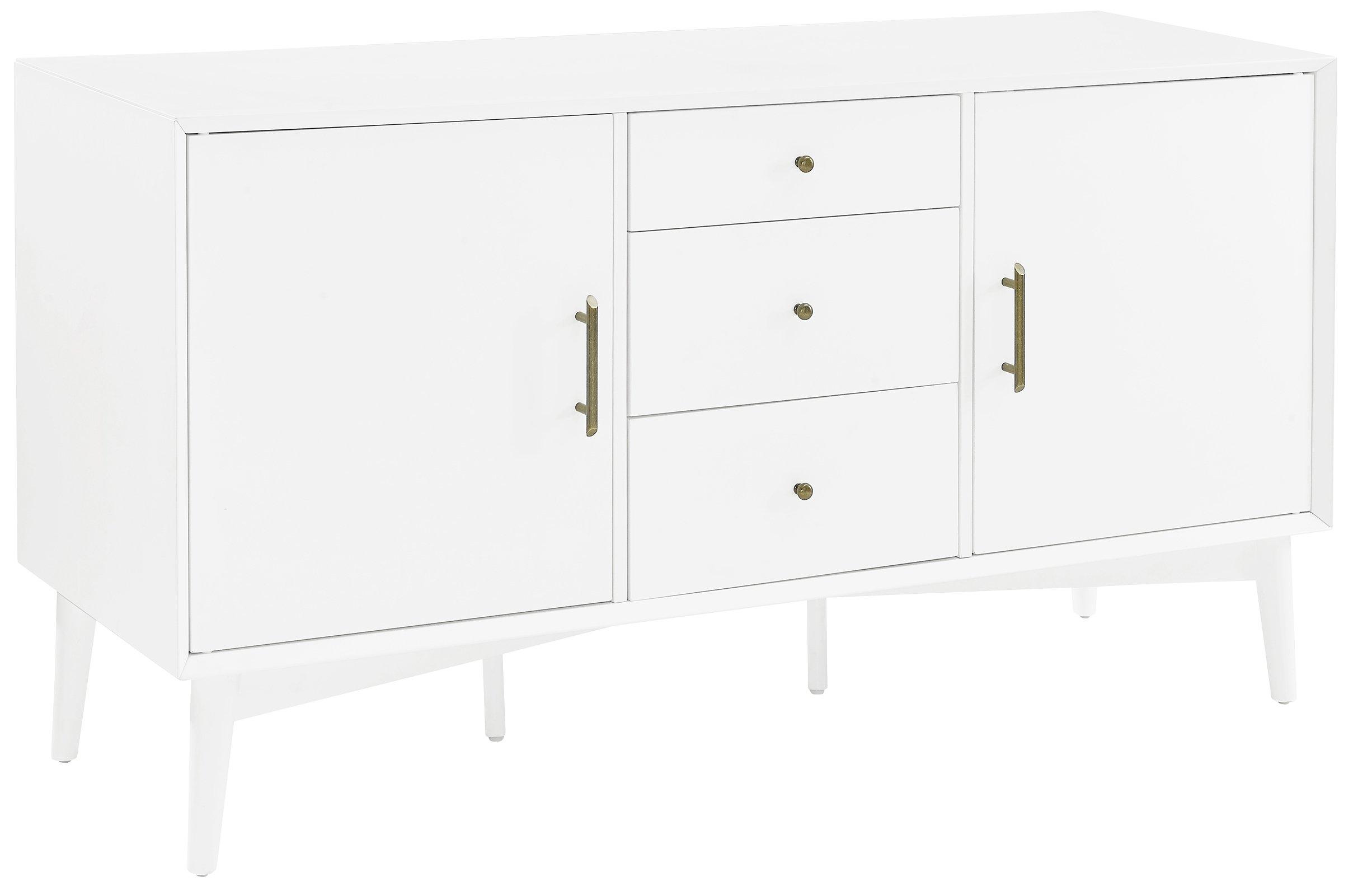 Crosley Furniture Landon Buffet and Large Console - White