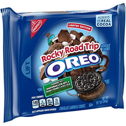 Oreo Seasonal Rocky Road Trip Chocolate Sandwich Cookies, 10.7 Oz