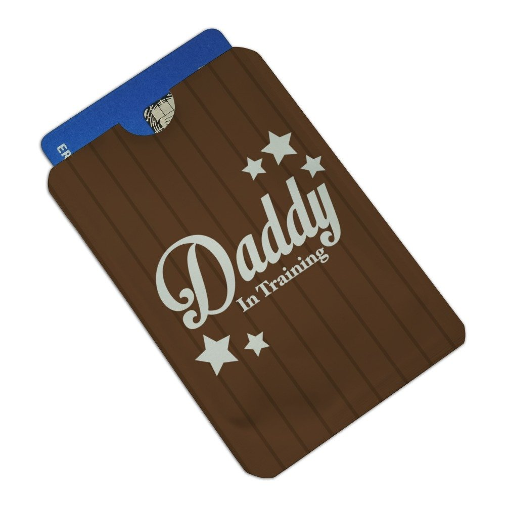 Father Dad Daddy in Training Credit Card RFID Blocker Holder Protector Wallet Purse Sleeves Set of 4