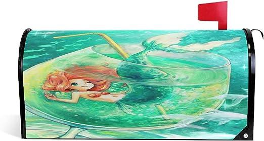 CPYang - Buzón magnético con diseño de Sirena, Ideal para Decorar el hogar, el jardín o el Patio: Amazon.es: Jardín