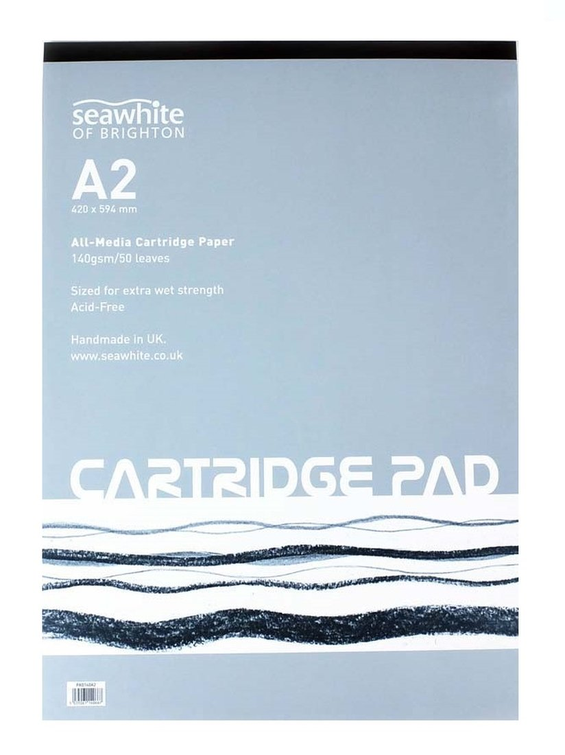Seawhite A2 Artists Cartridge Paper Pad 140gsm All Media Acid Free (50 Sheets)