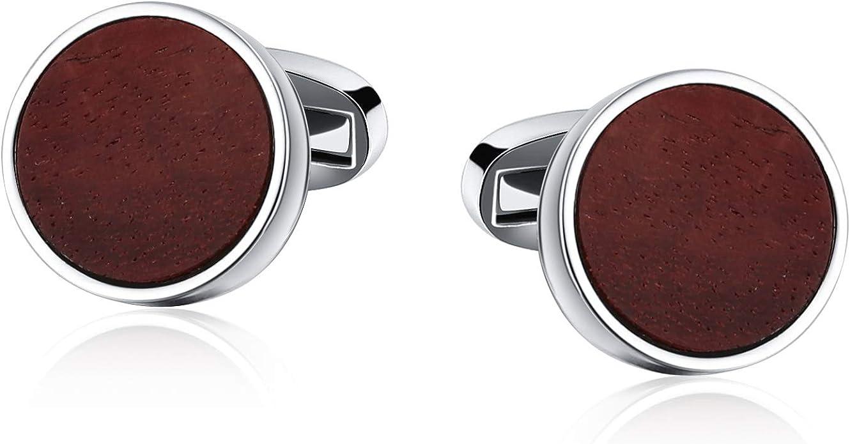 Blisfille Joyas para Boda Gemelos de Acero Inoxidable Gemelos Camisa Redondo Gemelos de Azul: Amazon.es: Joyería