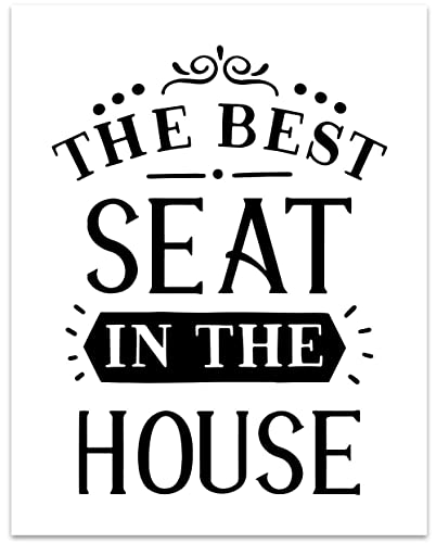 Cool Amazon Com Best Seat In The House Wall Art 11 X 14 Download Free Architecture Designs Embacsunscenecom