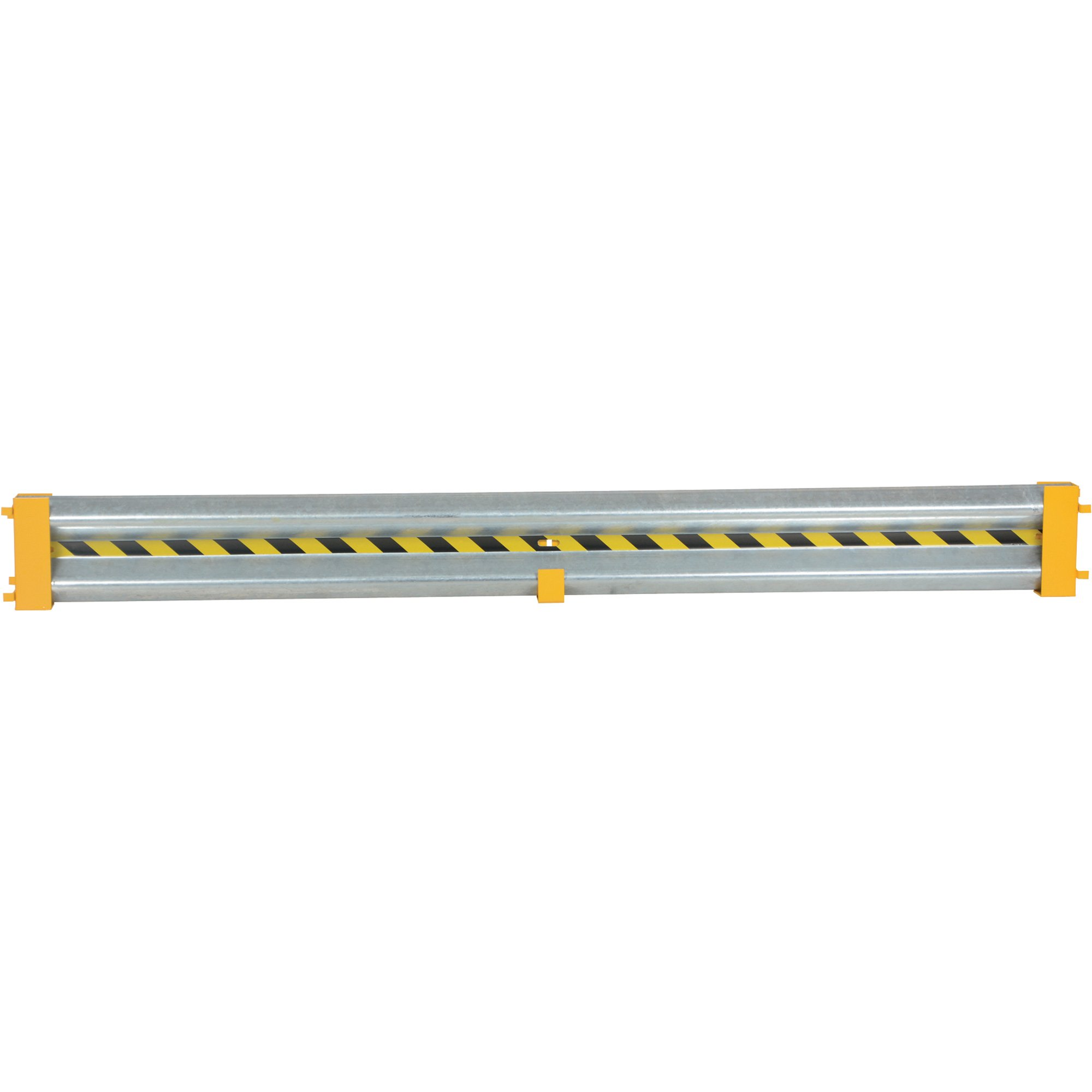 Vestil GR-D-10 Galvanized Guard Rail with Drop-In Brackets and Hardware, 120'' Length, 12'' Height